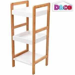 Etagere En Bois Salle De Bain : tag re bambou meuble de rangement salle de bain 3 niveaux ~ Dailycaller-alerts.com Idées de Décoration
