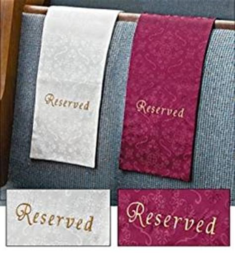 embroidered jacquard reserve cloth reserved seating