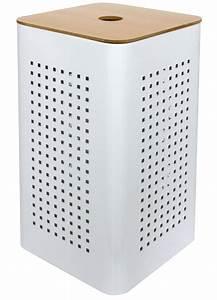 Panier A Linge Design : panier a linge pm metal white blanc homebain vente en ligne paniers linge ~ Teatrodelosmanantiales.com Idées de Décoration
