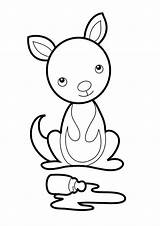 Kangaroo Coloring Craft Preschool Pouch Crafts Letter Coloring4free Joey Printable Outline Classroom Animal Netart Kangaroos Giraffe Visit Related Daycare Disney sketch template