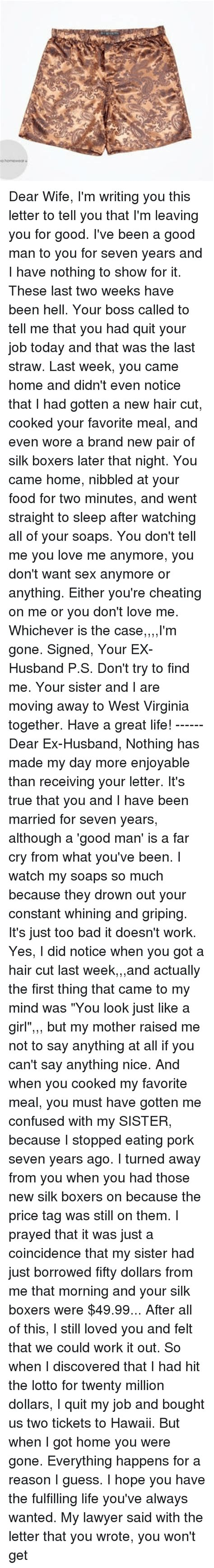 sex letters to my husband 25 best memes about im im memes 24826 | dear wife im writing you this letter to tell you 28161153