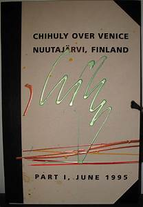 North American Designs Dale Chihuly Over Venice Nuutajarvi Finland Signed