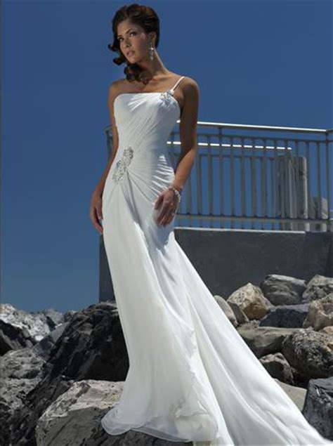beach wedding dresses 2015 strapless chiffon ivory