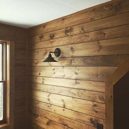 Stained Shiplap Wall by White Pine Shiplap Paneling Custom Stained Rustic Fall
