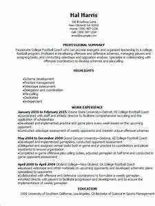 college football coach resume template best design With coaching resume examples