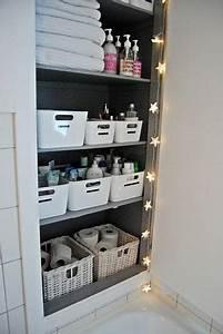 Rangements Salle De Bain : comment bien organiser le rangement de sa salle de bain ~ Nature-et-papiers.com Idées de Décoration