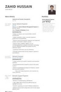 senior network engineer cv exle senior network engineer resume sles visualcv resume