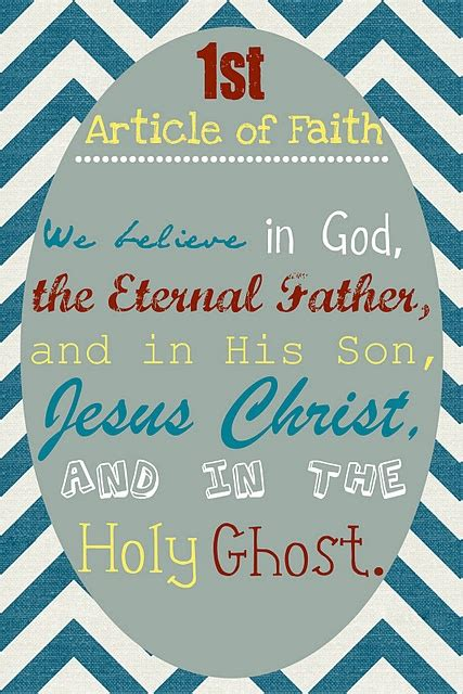 First Article of Faith Printable
