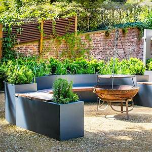 Curved, Planter, Benches