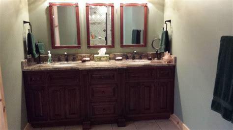 cherry cabinets  crema bordeaux granite