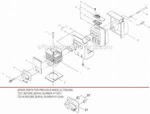 Shindaiwa T231 Parts List And Diagram   Ereplacementparts Com