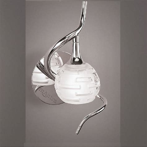 mantra spain dali m0098 polished chrome single l wall light