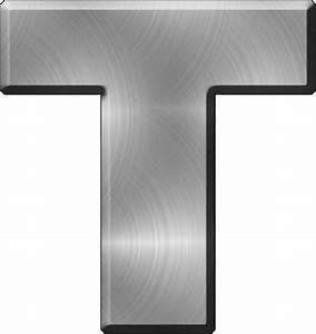 presentation alphabets brushed metal letter t With metal letter t