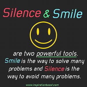 Smile Quotes. Q... Smile N Silence Quotes