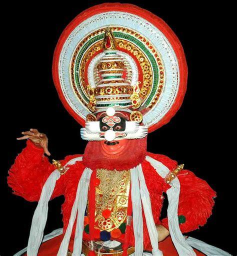 chuvapu red thadi beard vesham character kathakali