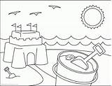 Coloring Preschool Pages Summer Popular sketch template
