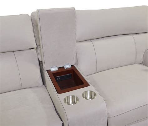 Console Loveseat by Newport 3 Power Reclining Sofa With Console Light