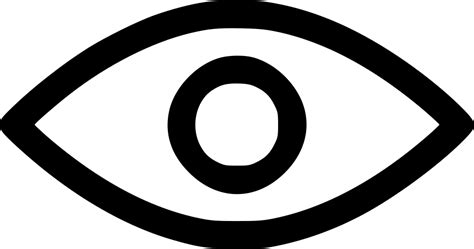 eye vision mission marketing goal show  svg png icon