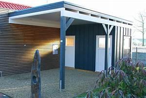 Carport Aus Holz : carport mit flachdach aus holz wandanbau online bestellen ~ Orissabook.com Haus und Dekorationen