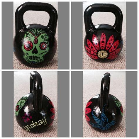 kettlebell painted painting kettlebells kg 8kg zombie