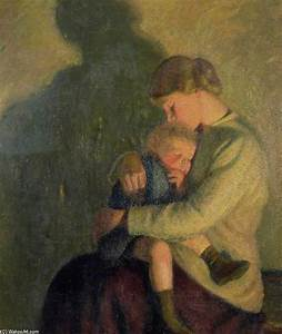 Mother And Child, Candlelight by William Rothenstein (1872 ...