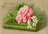 Vintage Birthday Image - Book - Flowers - The Graphics Fairy