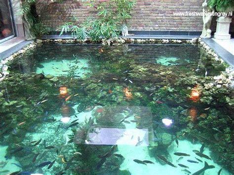 creative  impressive indoor pond design ideas