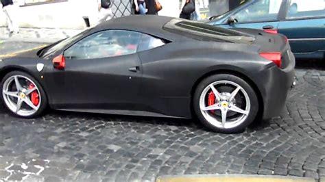 Supplied as a set of 4. Matte Black Ferrari 458 Italia in Prague HD - YouTube