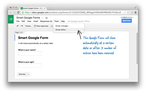 how to schedule your google forms and limit submissions
