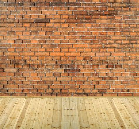 room interior vintage  white brick wall  wood floor