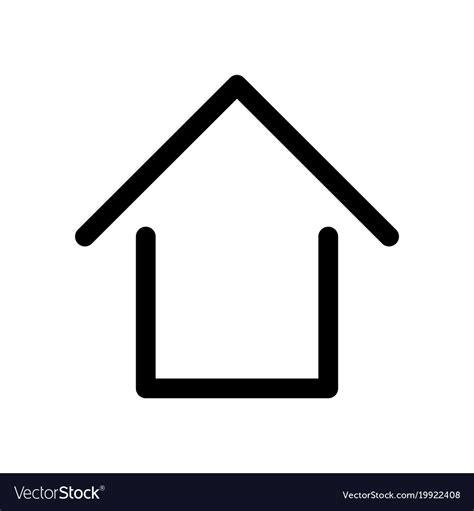 home sign symbol  house outline modern design vector image