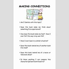 39 Best Comprehension  Making Connections Images On Pinterest  Teaching Ideas, Reading