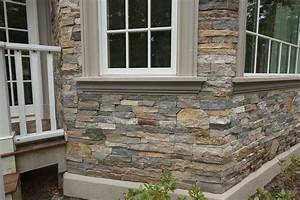 European, Style, Home, With, Natural, Thin, Stacked, Stone