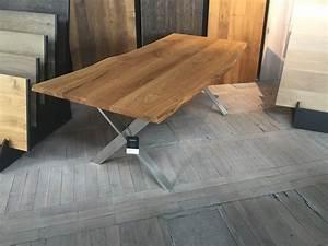 Table Bois Massif Design : table a manger en chene massif avec pietement host collection nuxe wood mobilier ~ Teatrodelosmanantiales.com Idées de Décoration
