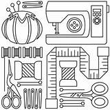 Sewing Machine Embroidery Pages Tools Patterns Drawing Applique Colouring Hand Template Sew Coloring Designs Templates Adults Clip Urbanthreads Paper Neat sketch template