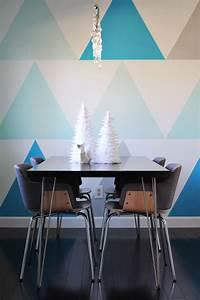 Wand Streichen Muster : mit farbe wandmuster streichen kreative wandgestaltung ~ Markanthonyermac.com Haus und Dekorationen