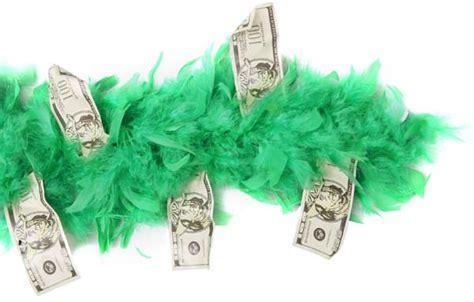 Sugar Momma Money Boa   Green Feather Boas   brandsonsale.com