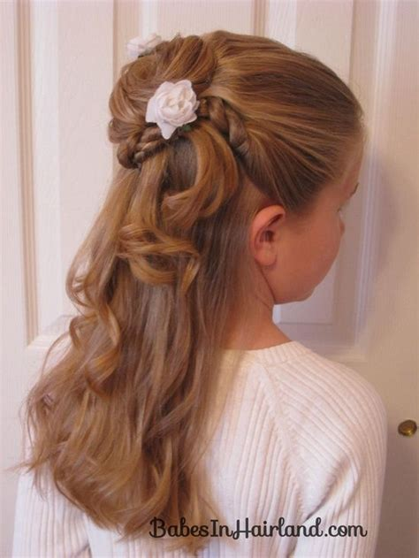 twisted flower girl hairstyle babes in hairland cute