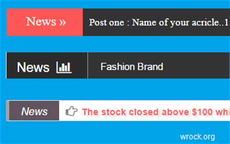 Create News Ticker Slide Posts Using Html Css Php