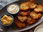 Potato Latkes with Sour Cream and Spiced Apple-Pear Sauce ...