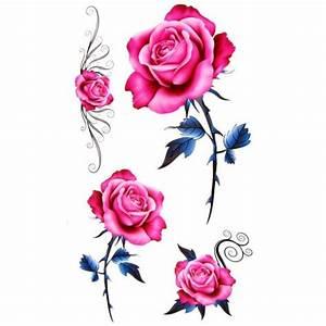 Rose En Tatouage : tatouage ephemere rose fleur de style old school ~ Farleysfitness.com Idées de Décoration