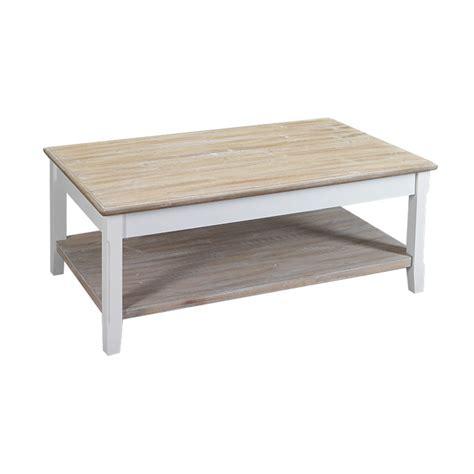 table basse bois blanc table de lit