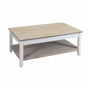 table basse bois blanc table de lit With table basse bois blanchi