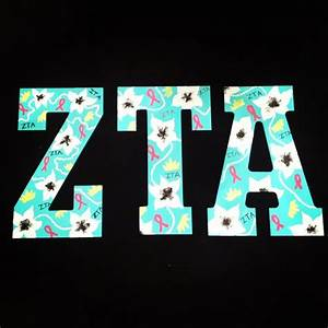 1000 images about zeta tau alpha letters on pinterest With zta letters