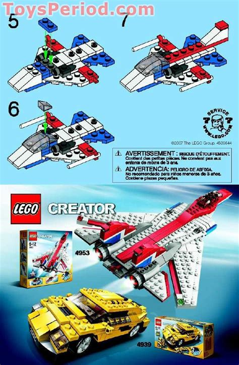 lego  airplane set parts inventory  instructions