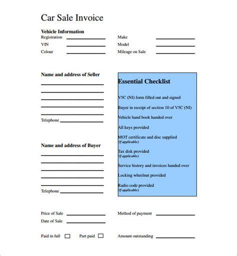 car sales invoice template uk invoice