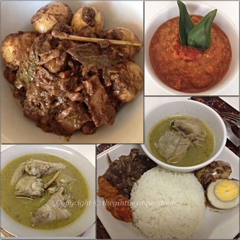 authentic indonesian food nasi gudeg komplit
