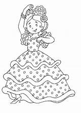 Coloring Flamenco Spanish Colouring Sheet sketch template