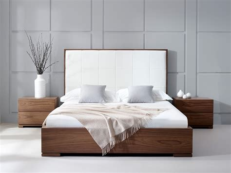 stylish bedroom furniture designs bella natural walnut faux leather headboard furni ideas pinterest leather headboard