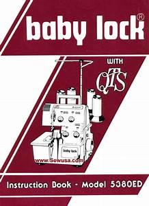 Babylock 5380 Ed Instruction Manual